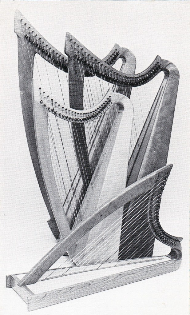 Several models of my  Halcyon Harps, from around 1985.