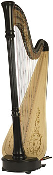 A classic double-action harp by Lyon & Healy.