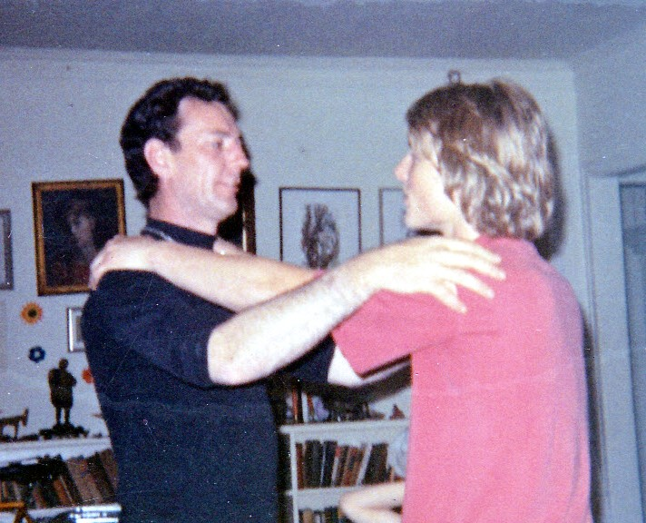 Fahey's good friend, Rev. Don Seaton and myself, years earlier.