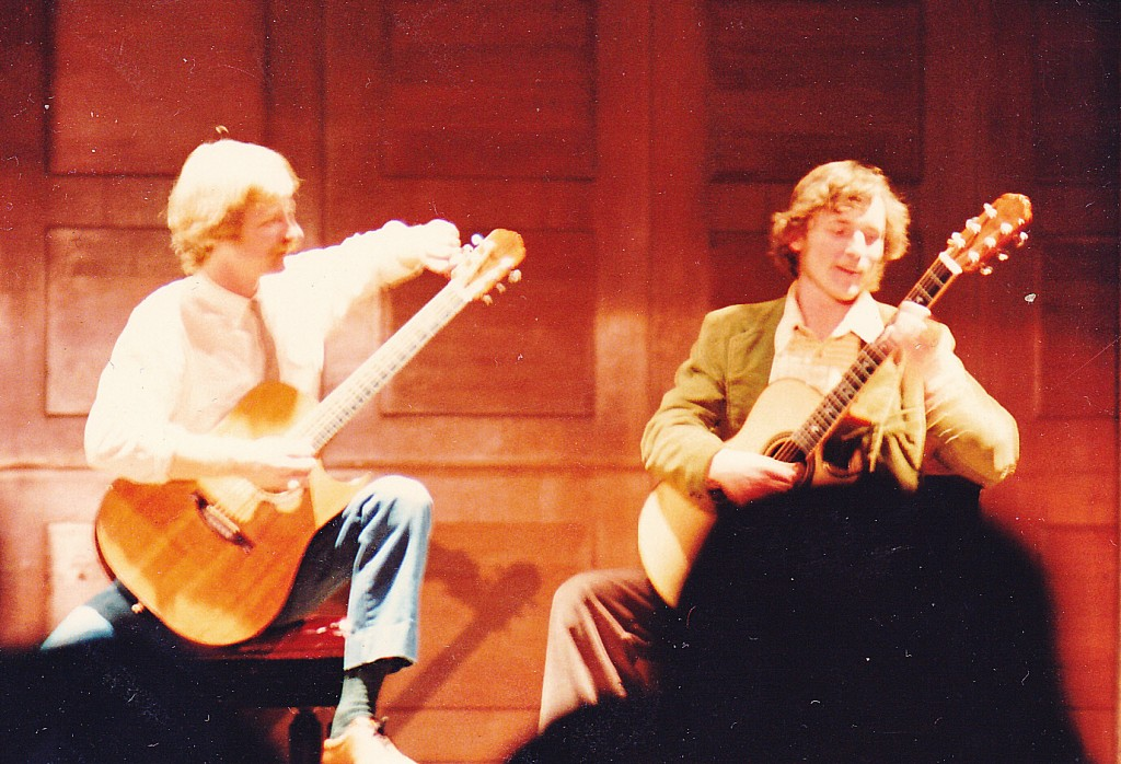 Alex deGrassi and me at Carnegie Recital Hall, some months after I performed with Fahey